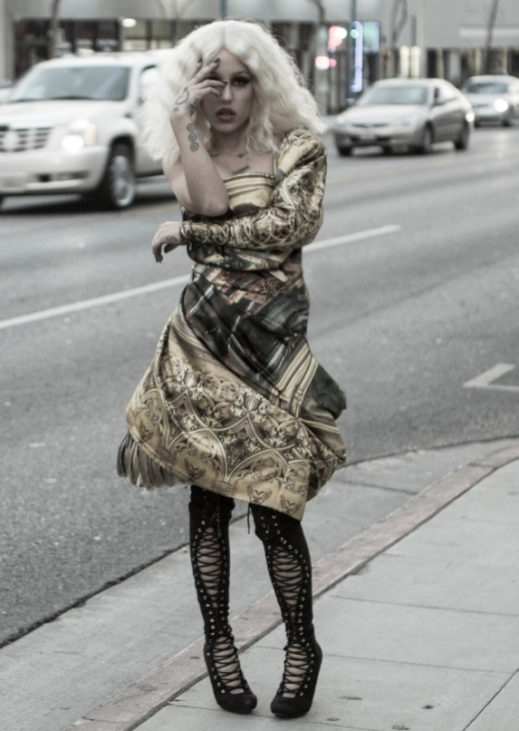 Brooke Candy on the street
